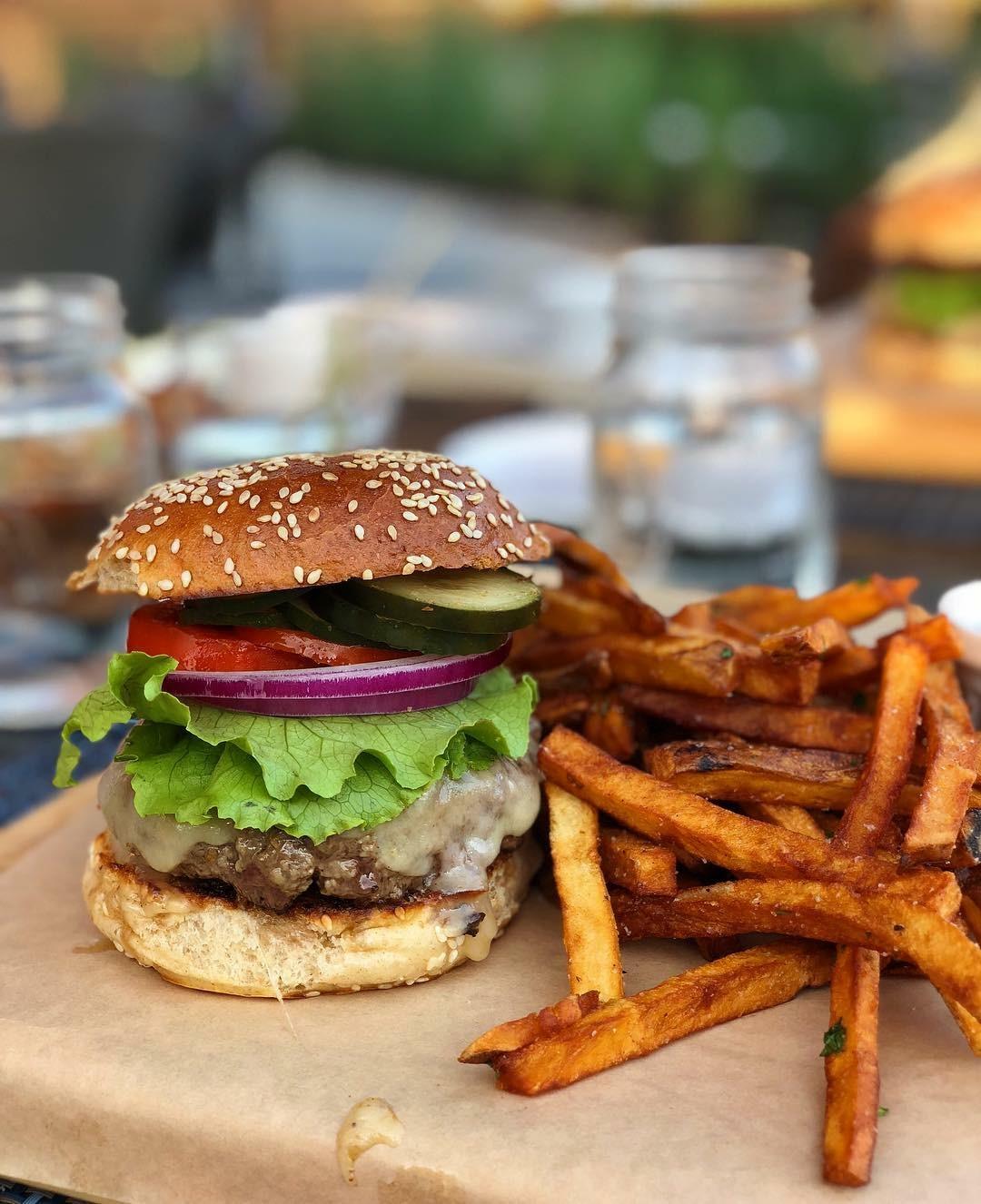 Burger at Native Eatery and Bar
